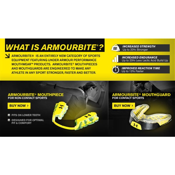 Adult 12 Under Armour ArmourBite Mouthpiece Lower Non-Contact /& Mouthwear Case
