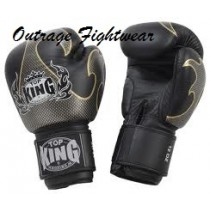 """Top King """"Empower Creativity"""" Boxing Gloves Black/Silver"""