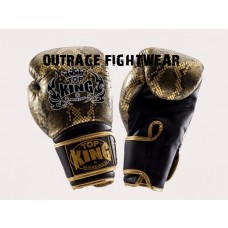 "Top King ""Super Air""  Boxing Gloves - SNAKE. BLACK/GOLD"