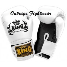 "Top King ""Super Air""  Boxing Gloves - White"