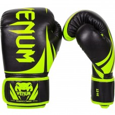 "Venum ""Challenger 2.0"" Boxing Gloves -Black/Yellow- 8oz"