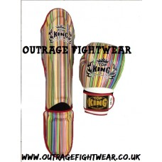 "Top King ""Super Air""  Boxing Gloves - STRIPES"