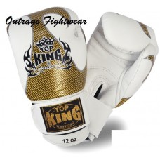 """Top King """"Empower Creativity"""" Boxing Gloves WHITE/GOLD"""