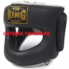 "Top King ""CLOSED CHIN"" HEAD GUARD TKHGOC 222 BLACK- LARGE"