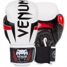Venum Elite Adult Boxing Gloves White