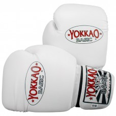 YOKKAO Basic White Muay Thai Boxing Gloves